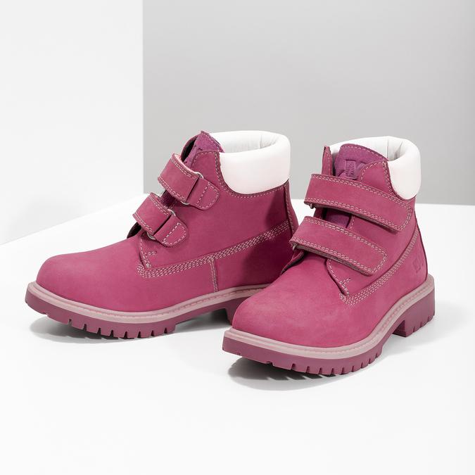 Ružová kožená detská členková obuv weinbrenner, ružová, 226-5201 - 16