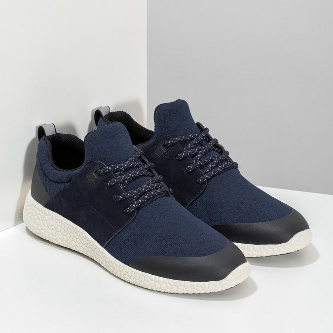 Pánske športové modré tenisky bata-light, modrá, 849-9634 - 26