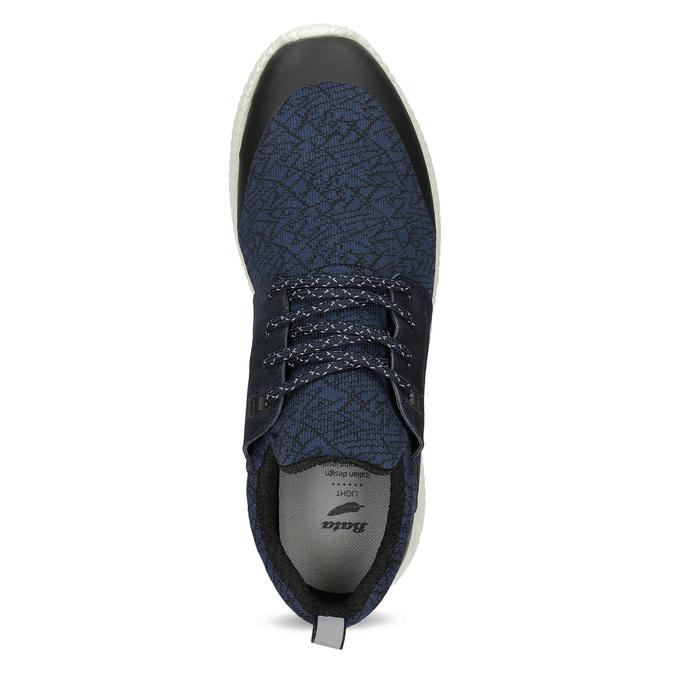 Pánske športové modré tenisky bata-light, modrá, 849-9634 - 17