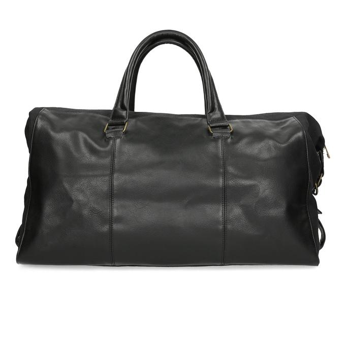 Pánska čierna taška s popruhom bata, čierna, 969-6230 - 26