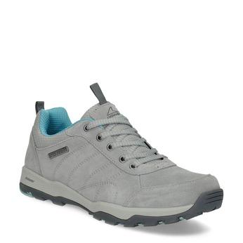 Dámske šedé kožené tenisky power, šedá, 503-2146 - 13