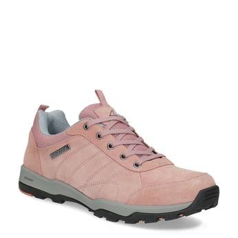 Ružové dámske kožené tenisky power, ružová, 503-5146 - 13