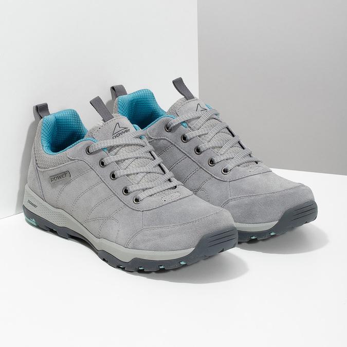Dámske šedé kožené tenisky power, šedá, 503-2146 - 26