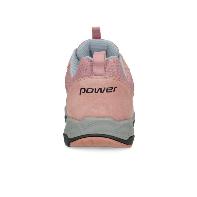 Ružové dámske kožené tenisky power, ružová, 503-5146 - 15