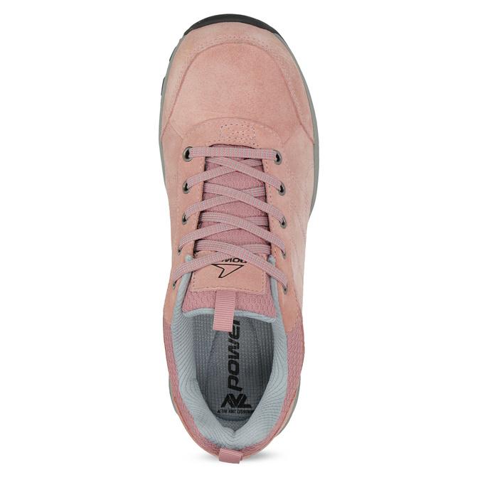 Ružové dámske kožené tenisky power, ružová, 503-5146 - 17