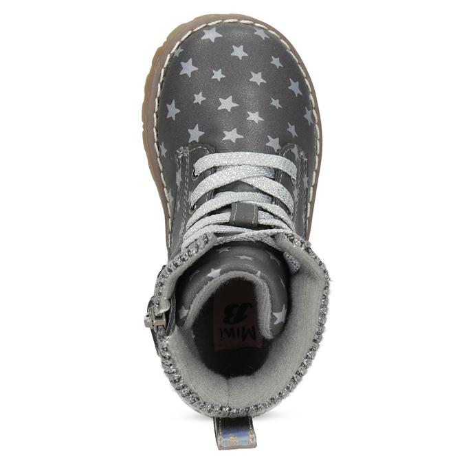 Šedá členková detská obuv s hviezdičkami mini-b, šedá, 221-2610 - 17