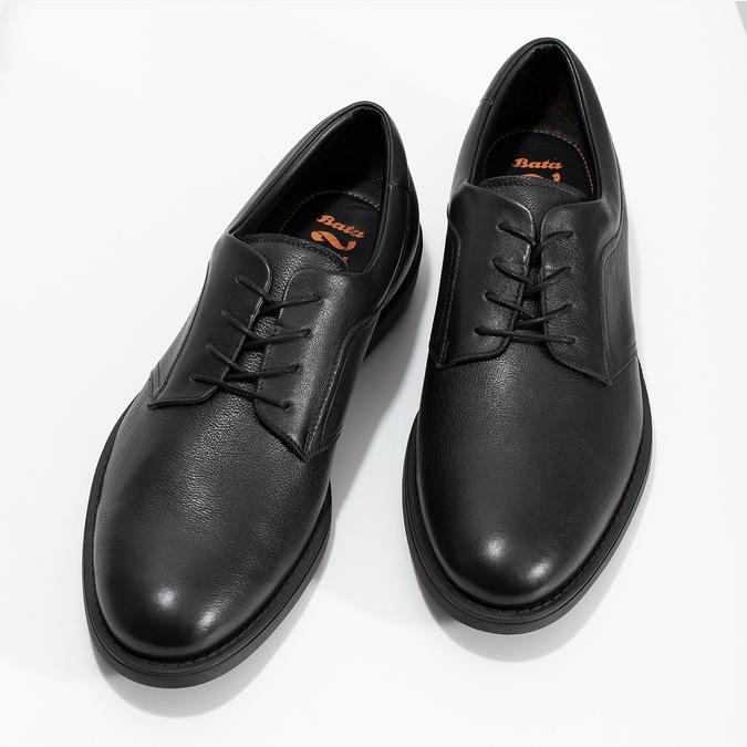 Pánske čierne kožené poltopánky flexible, čierna, 824-6766 - 16