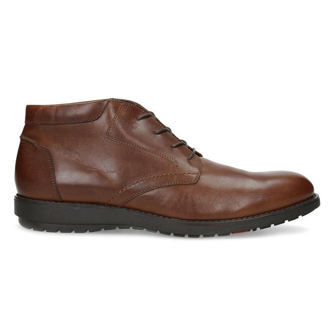 Členková kožená pánska hnedá obuv flexible, hnedá, 896-4707 - 19