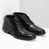Kožená členková obuv čierna pánska hladká comfit, čierna, 824-6822 - 26