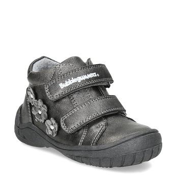 Dievčenské členkové topánky s kytičkami bubblegummers, šedá, 121-2622 - 13