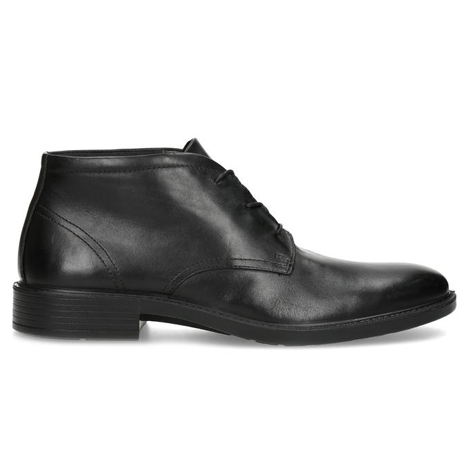 Kožená členková obuv čierna pánska hladká comfit, čierna, 824-6822 - 19