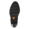 Dámske kožené poltopánky na podpätku flexible, čierna, 714-6600 - 18