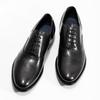 Pánske čierne kožené Oxford poltopánky bata, čierna, 824-6615 - 16