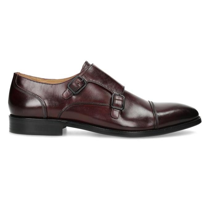 Pánske kožené Monk Shoes poltopánky bata, červená, 826-5738 - 19