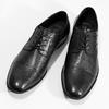 Čierne kožené derby poltopánky bugatti, čierna, 824-6088 - 16