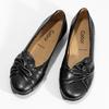 Čierne kožené dámske baleríny gabor, čierna, 524-6048 - 16