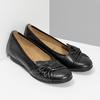 Čierne kožené dámske baleríny gabor, čierna, 524-6048 - 26