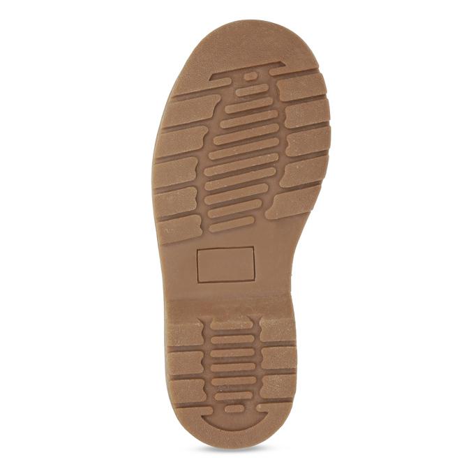 Detská členková obuv s kvetinovým vzorom mini-b, hnedá, 321-8620 - 18