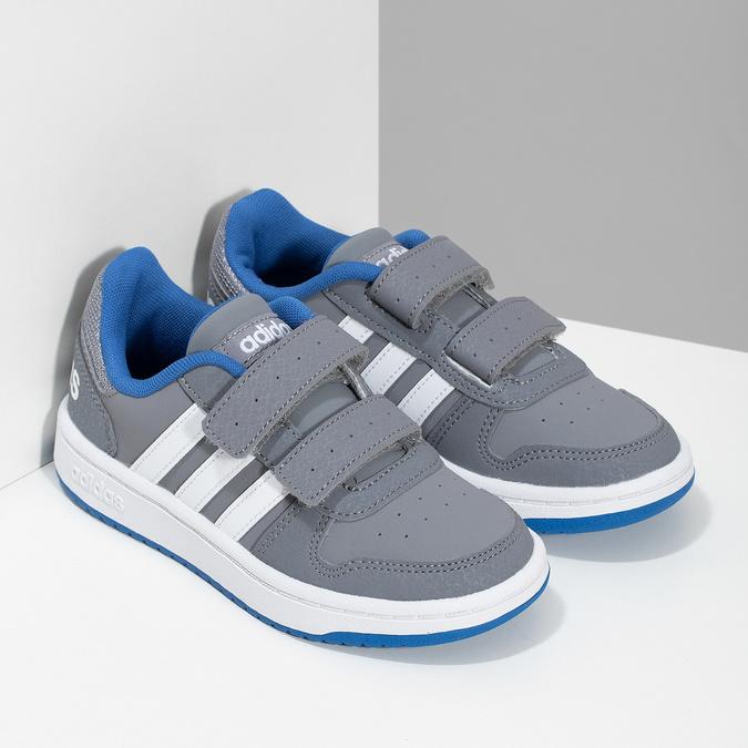 Šedé detské tenisky so suchými zipsami adidas, šedá, 301-2208 - 26