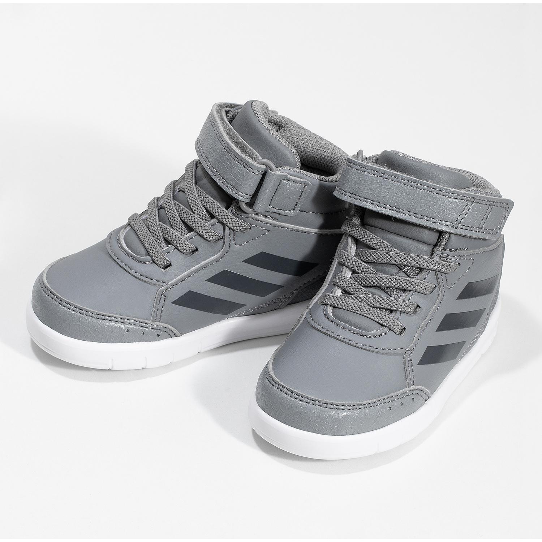 Adidas Šedé členkové detské tenisky na suchý zips - Adidas  28d91def82b