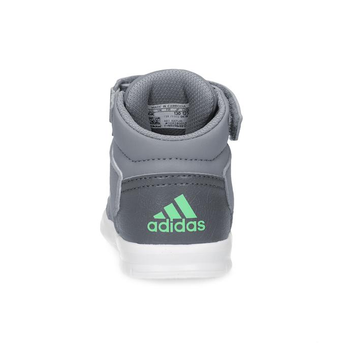 Šedé členkové detské tenisky na suchý zips adidas, šedá, 101-2220 - 15