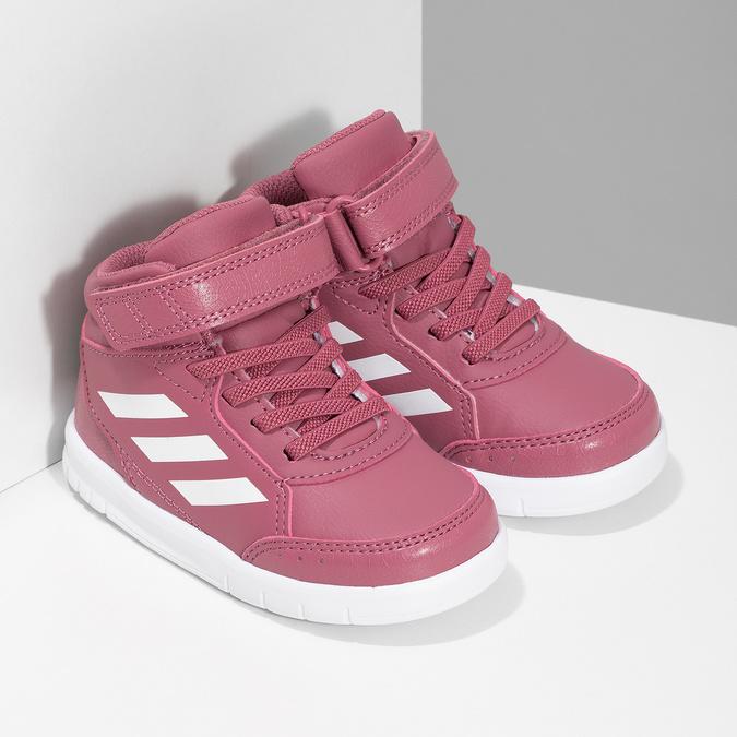 Ružové členkové detské tenisky adidas, ružová, 101-5220 - 26