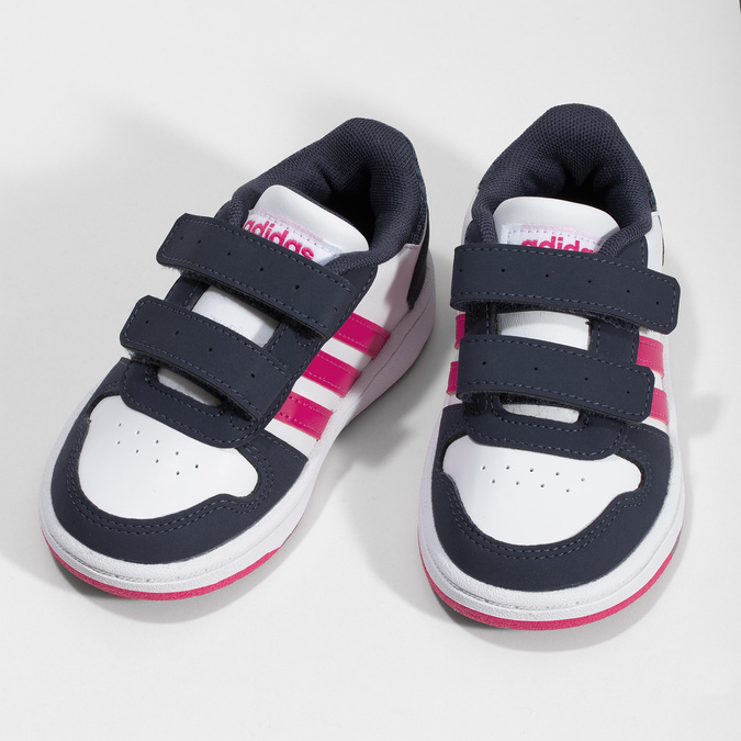 Biele detské tenisky na suchý zips adidas, viacfarebné, 101-1194 - 16