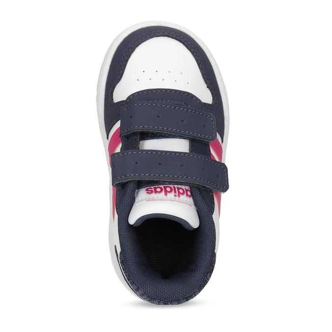 Biele detské tenisky na suchý zips adidas, viacfarebné, 101-1194 - 17