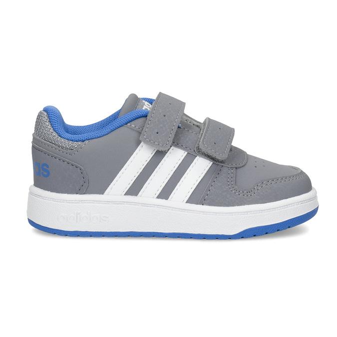 Šedé detské tenisky s modrými detailami adidas, šedá, 101-2194 - 19