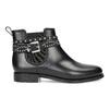 Členkové dámske gumáky s prackou bata, čierna, 592-6601 - 19