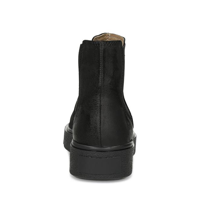 Členková kožená dámska Chelsea obuv bata, čierna, 596-6713 - 15