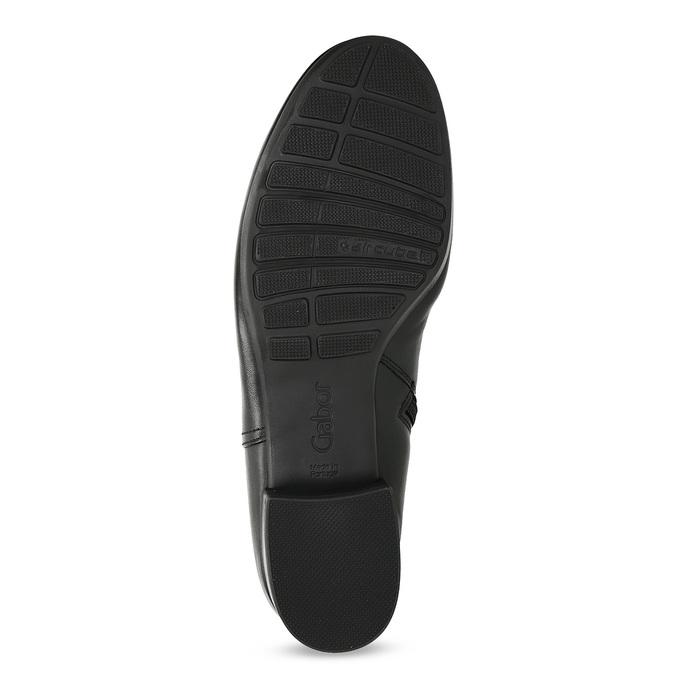 Dámske kožené čierne členkové čižmy gabor, čierna, 614-6049 - 18