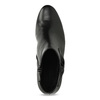 Čierne kožené členkové čižmy s mašľou gabor, čierna, 614-6005 - 17