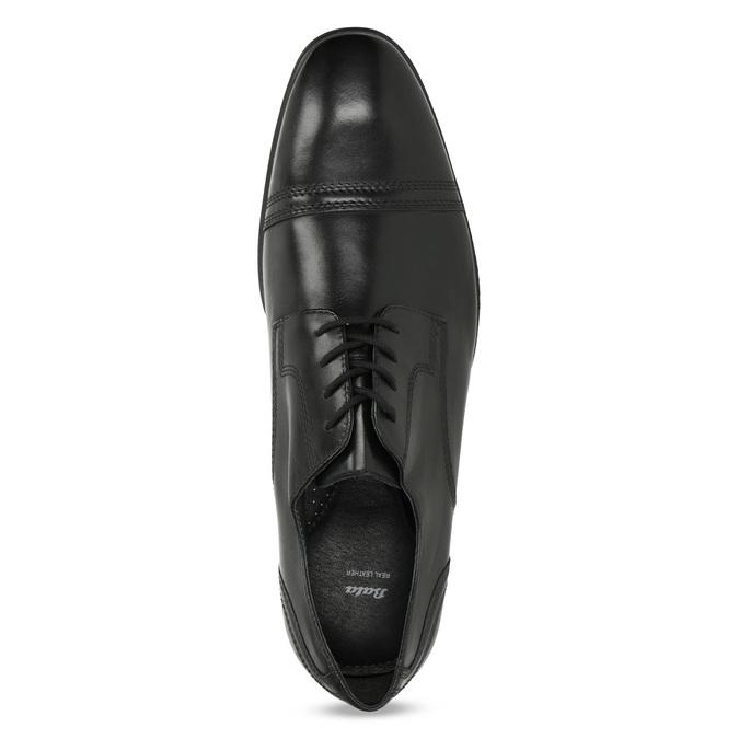 Pánske čierne kožené Derby poltopánky bata, čierna, 824-6891 - 17