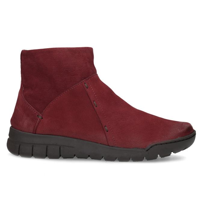 Červené kožené členkové čižmy bata, červená, 596-5706 - 19