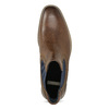 Pánska kožená obuv v štýle Chelsea bata, hnedá, 826-3865 - 17