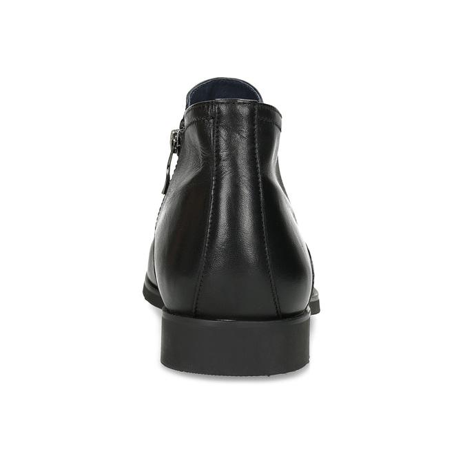 Kožená členková pánska obuv s prešitím bata, čierna, 824-6621 - 15