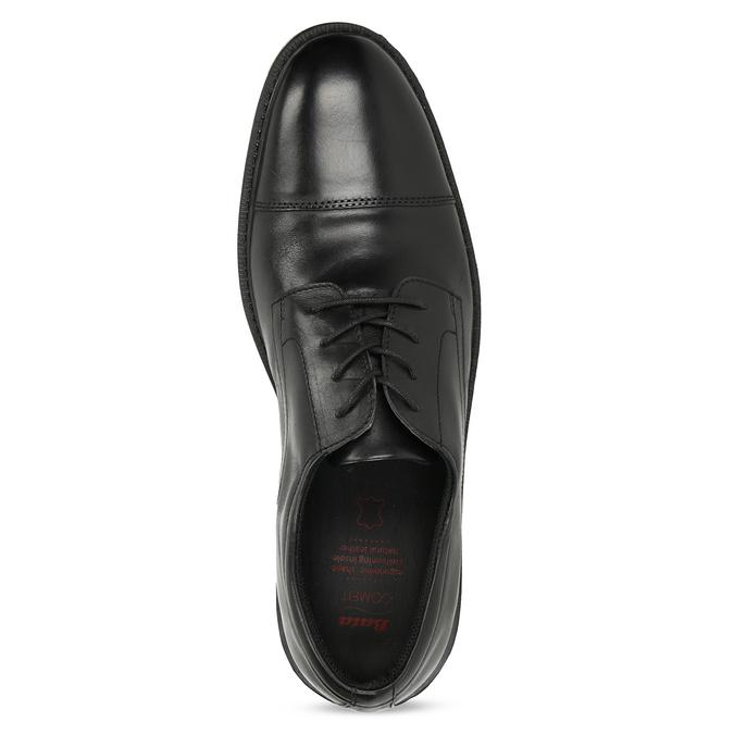 Pánske kožené poltopánky čierne comfit, čierna, 824-6820 - 17