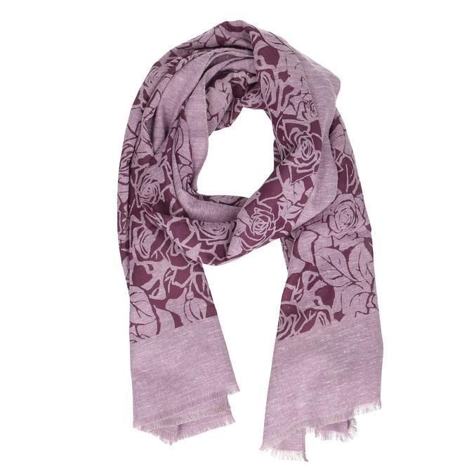 Vínová šatka so vzorom ruží bata, ružová, 909-9701 - 26