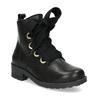 Kožená členková detská obuv mini-b, čierna, 424-6600 - 13