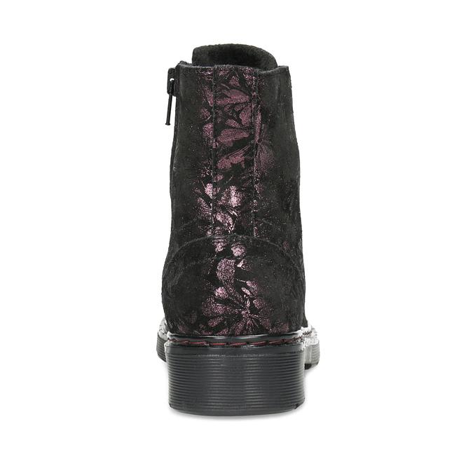 Členková kožená detská obuv so vzorom mini-b, hnedá, 426-4560 - 15