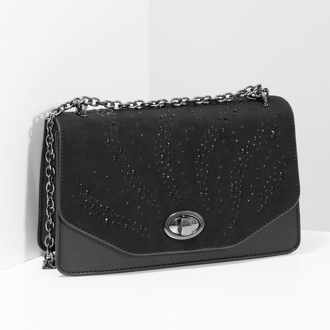 Dámska čierna Crossbody kabelka bata, čierna, 969-6874 - 17