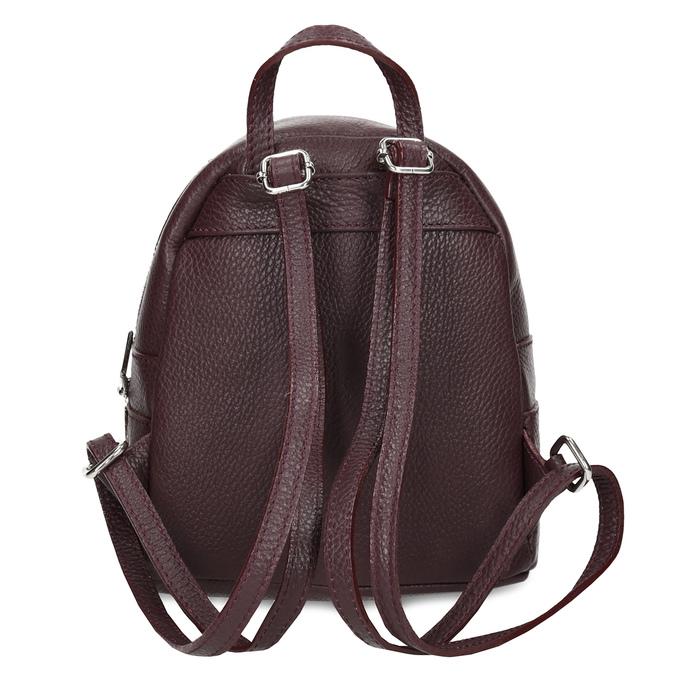 Kožený vínový mestský batôžtek bata, červená, 964-5301 - 16
