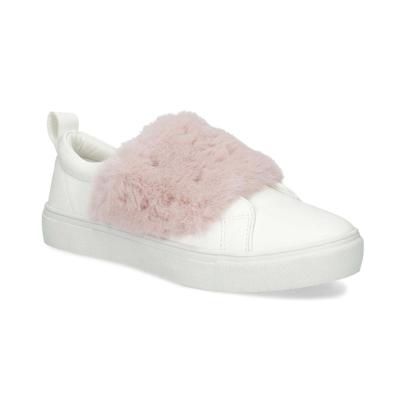 a837e8f21b4d4 Biela dámska Slip-on obuv s kožušinkou north-star, ružová, 511- ...