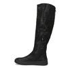 Dámske čierne čižmy s výrazným zipsom bata, čierna, 691-6636 - 17