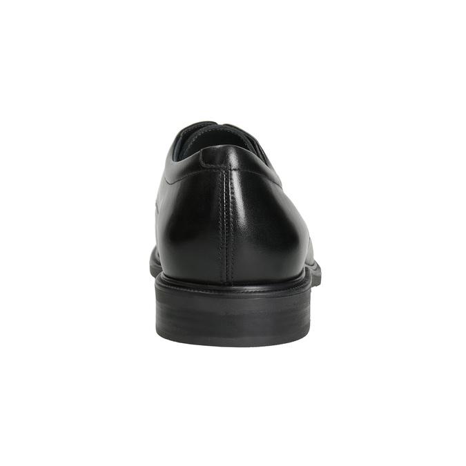 Kožené pánske poltopánky s rovnou špičkou climatec, čierna, 824-6660 - 15