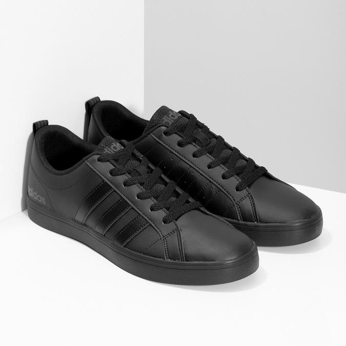 Čierne pánske tenisky s rovnou podrážkou adidas, čierna, 801-6236 - 26