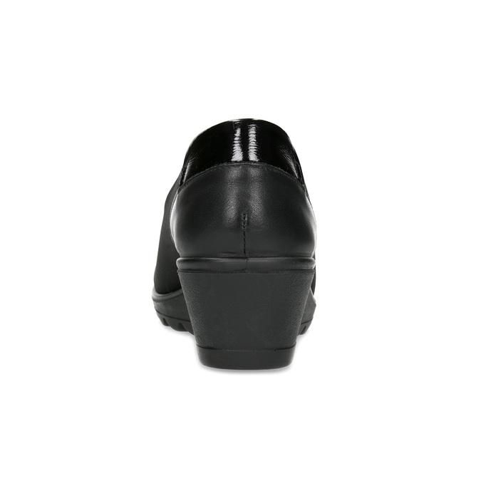 Čierna dámska obuv na kline comfit, čierna, 619-6600 - 15