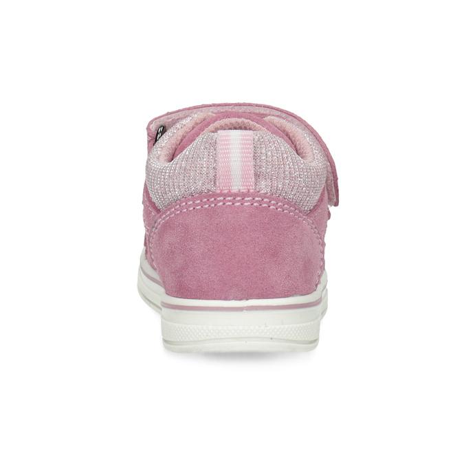 Ružové detské kožené tenisky bubblegummers, ružová, 123-5611 - 15