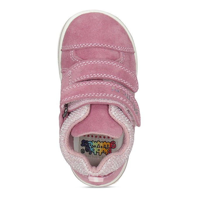 Ružové detské kožené tenisky bubblegummers, ružová, 123-5611 - 17